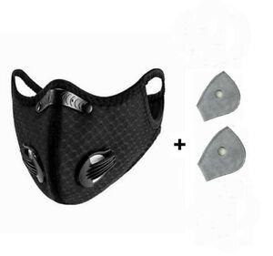 Masque-Velo-masque-Poussiere-Masque-Protection-Bouche-Sports-avec-avec-2-Filtre