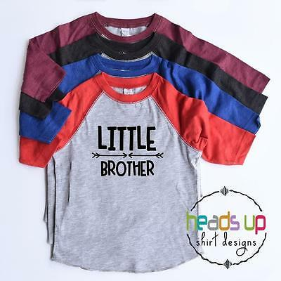 Toddler Boy Little Brother Shirt Raglan Lil Bro Trendy tshirt Kid Sibling Tees