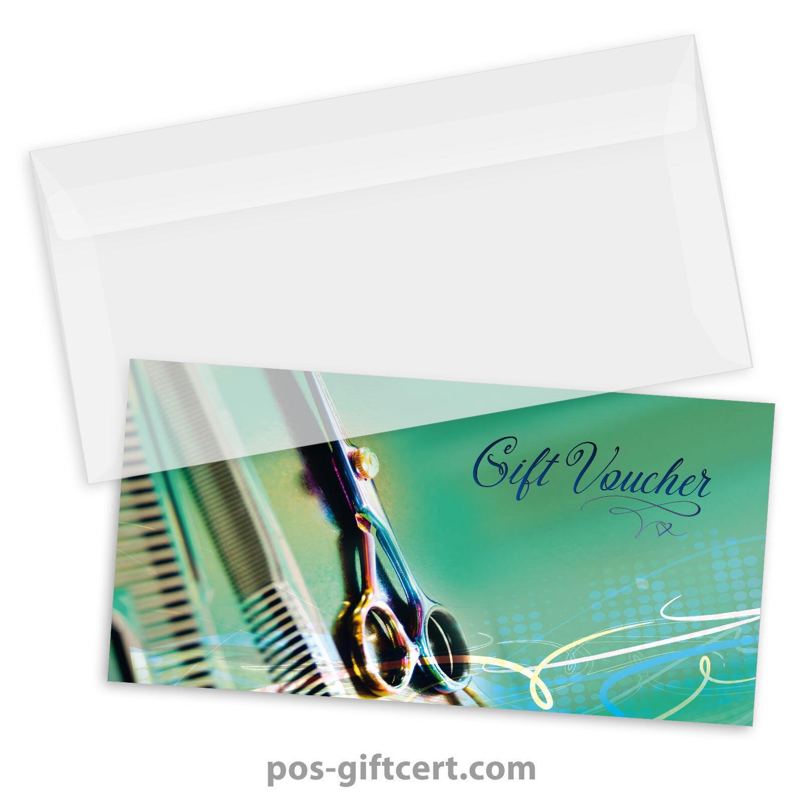 Gift vouchers  envelopes for hair salons, hairdressers, hairstylists K9286GB  | Neue Sorten werden eingeführt  | Charakteristisch