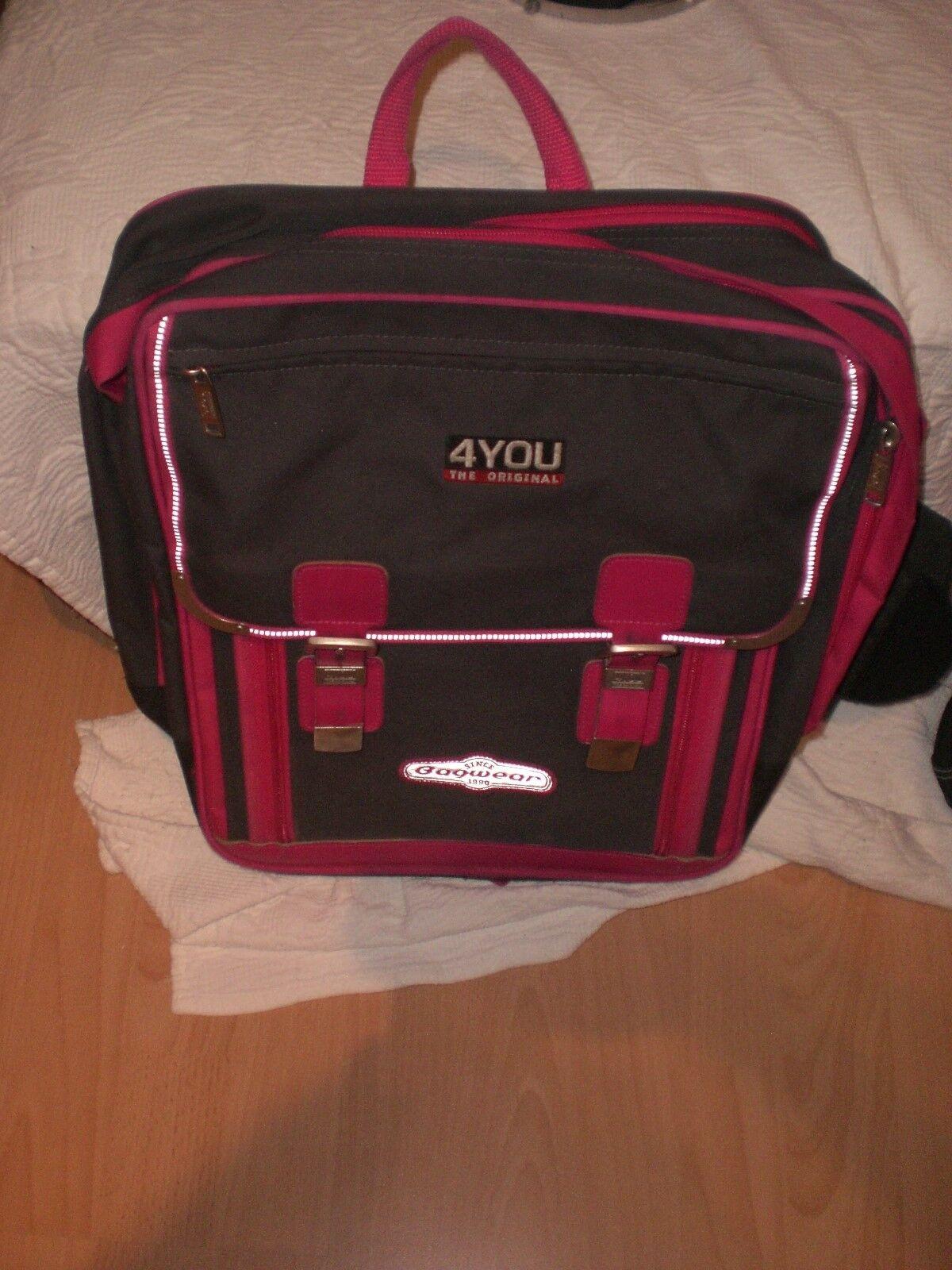 Schulranzen For You 4 You mit Reflektoren +  Schul - Sport-Tasche mit Etikett   Verschiedene Arten und Stile    Export    Hochwertig