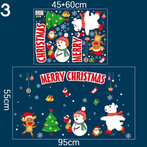 40*60cm Removable Window Door Wall Sticker Home Shop Merry Christmas Decals  UK