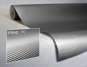 Xpo Silver Aluminum 3d Carbon Fiber Vinyl Car Wrap Vvivid