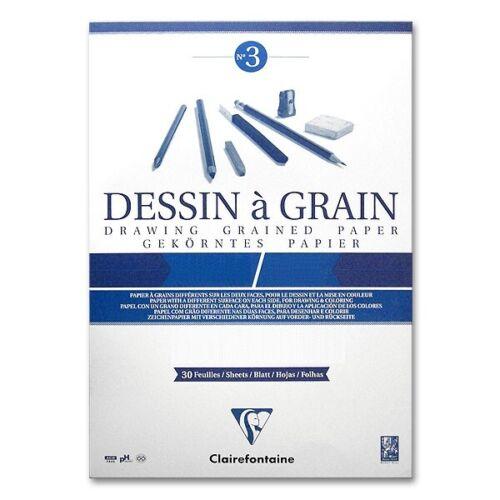 30 Blatt 0,28€//Blatt Zeichenblock A3 Clairfontaine 180g//m² Dessign à Grain