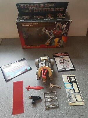 1984 Transformers Dinobot Lanciafiamme Scorie In Scatola Completo-mostra Il Titolo Originale