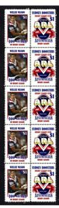 CENTENARY-OF-RUGBY-STRIP-OF-10-MINT-VIGNETTE-STAMPS-ROOSTERS-WILLIE-MASON