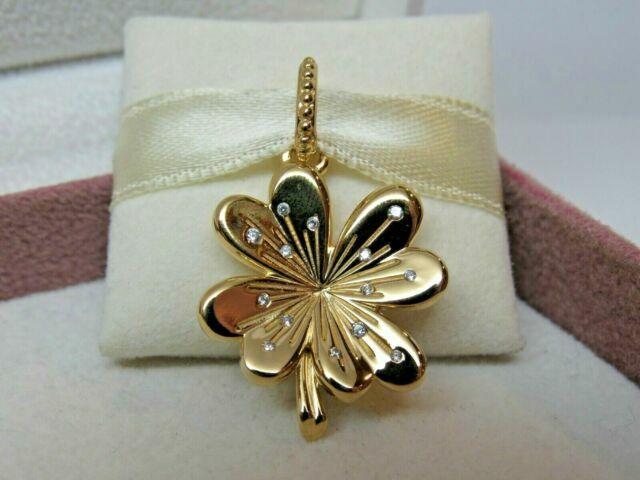 Authentic PANDORA Shine Lucky Four-leaf Clover Pendant CZ 367935CZ