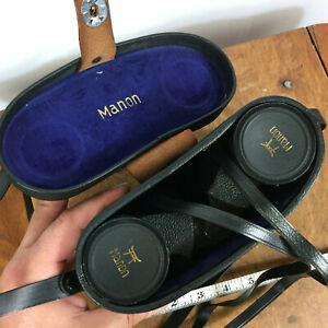 Vintage-Manon-Binoculars-7-x-35-Extra-Wide-Angle-Field-Made-in-Japan-w-Case