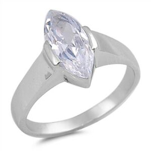Sterling-Silver-3-0-ct-Marquise-Solitaire-Ring-Free-Gift-Packaging