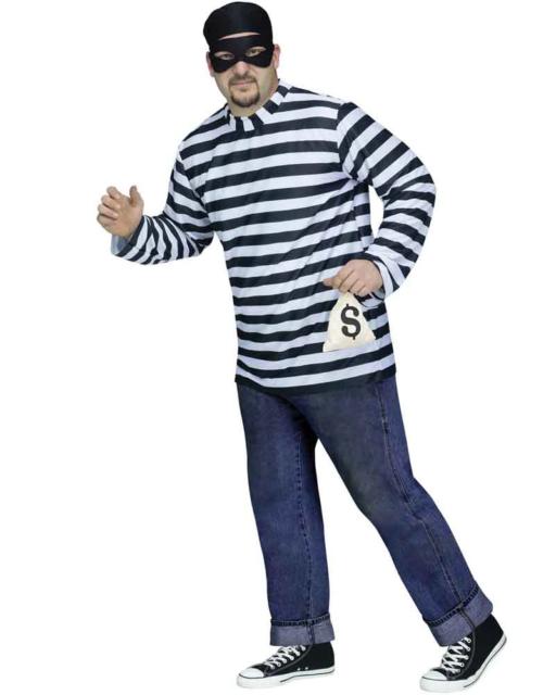 Burglar Plus Size Mens Costume