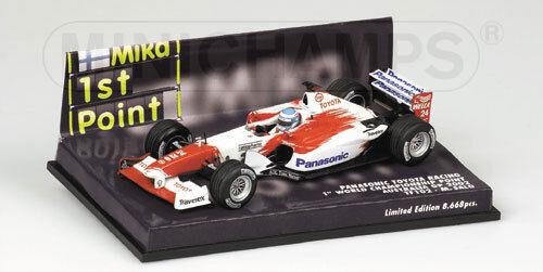 1/43 PANASONIC TOYOTA RACING TF102 AUSTRALIAN GP 2002 1st con C Punto M. SALO