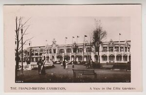 Franco British Exhibition, London 1908 postcard - View in the Elite Garden (A22)