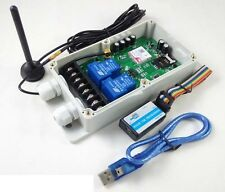 4G GSM High Amperage Remote Control Relay - DC Powered - USA/Canada/Mexico
