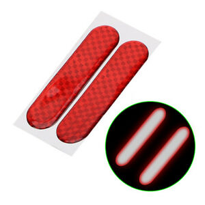 2-Safety-Mark-Strips-Red-Excellent-Car-Reflective-Stickers-Warning-Tape-Stylish