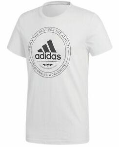 Details about New Men's Adidas Adi Emblem Logo T Shirt, Top White