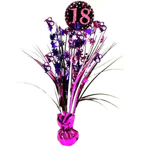 anniversaire Brillant Rose hauteur 46 cm Metallic Table CASCADE au 18