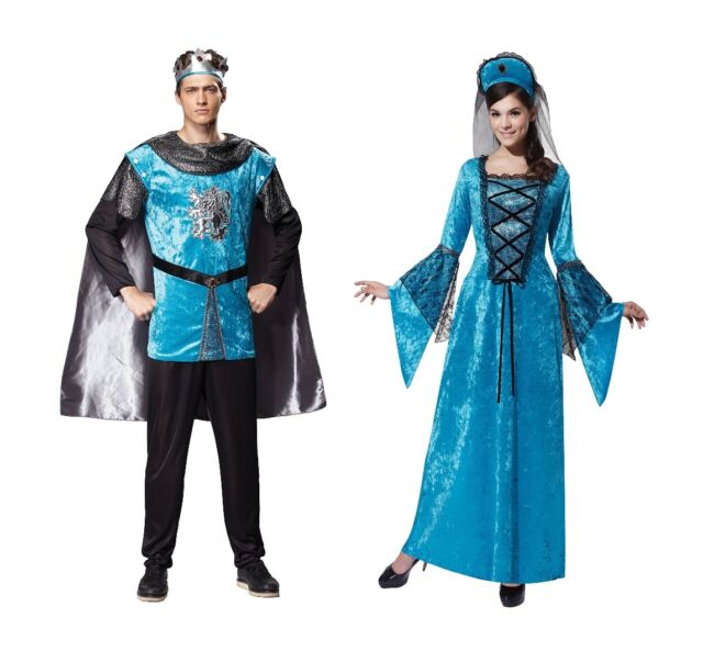 ADULT #MEDIEVAL & GOTHIC ROYAL KNIGHT OR PRINCESS COSTUMES FANCY DRESS