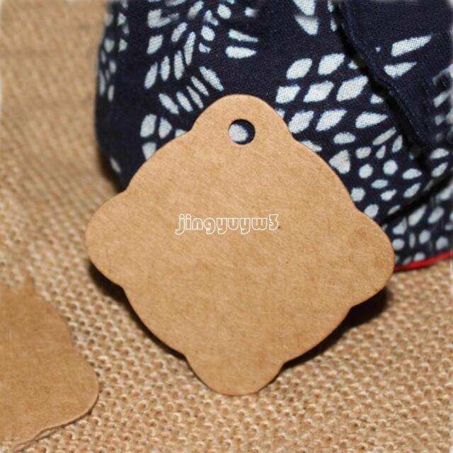 100pcs Kraft Paper Hang Tags Wedding Party Favor Label Gift Card Ebay
