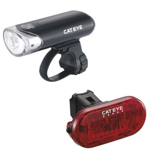 Cateye EL135 LD155 Front Rear Head Light Set White Red LED Bulb Flashing Torch