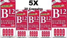 Genuine Stacker 2 B12 Extreme Energy 4/Card (Lot of 5 X Cards)= 20 Capsules