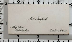 Antique-Calling-Card-Mr-Russel-Mapleton-Edenbridge-Carlton-Club