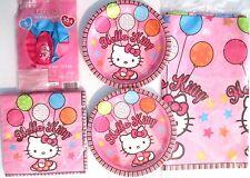 HELLO KITTY Balloon Dreams Birthday Party Supply Kit w/Plates,Napkins & Balloons