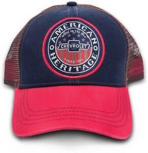 GM-Chevrolet-American-Heritage-Red-blue-mesh-Hat-Cap