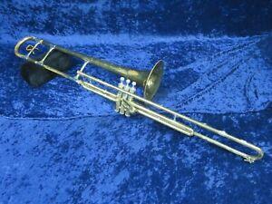 . Reynolds Empereur Valve Trombone Ser#32333 Joue Un Grand Besoin Mineur Ajustement *-afficher Le Titre D'origine