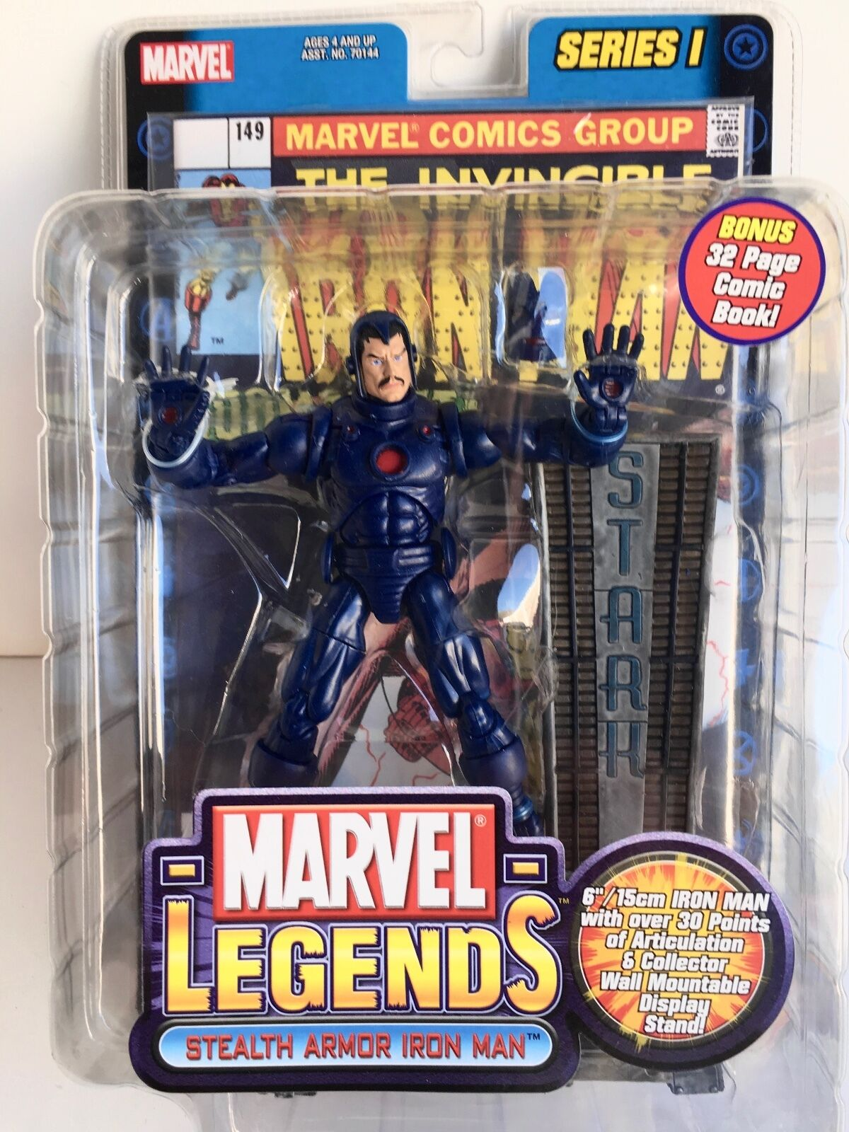 Marvel Legends Stealth Armor Iron Man Series One Mint