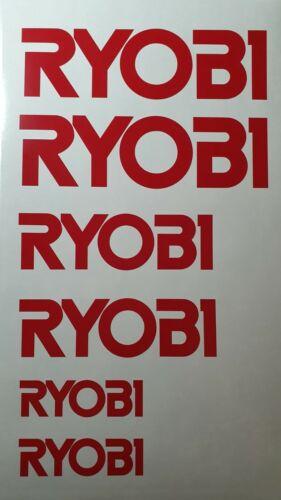 Helmets Coffee Mugs RYOBI Sticker Decal for Toolbox etc.