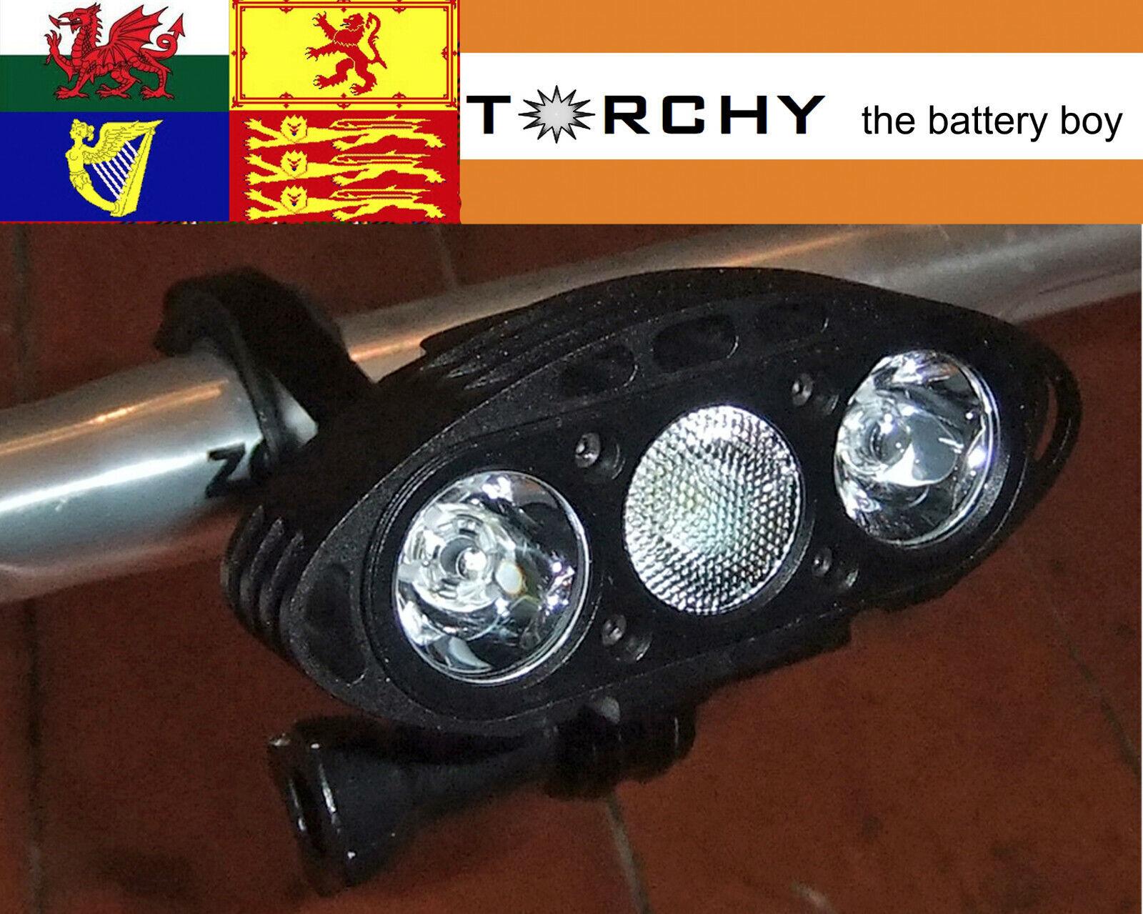 M-Tigersports THEIA Endurance 3000 lumen bike and head light,O ring +solid mount