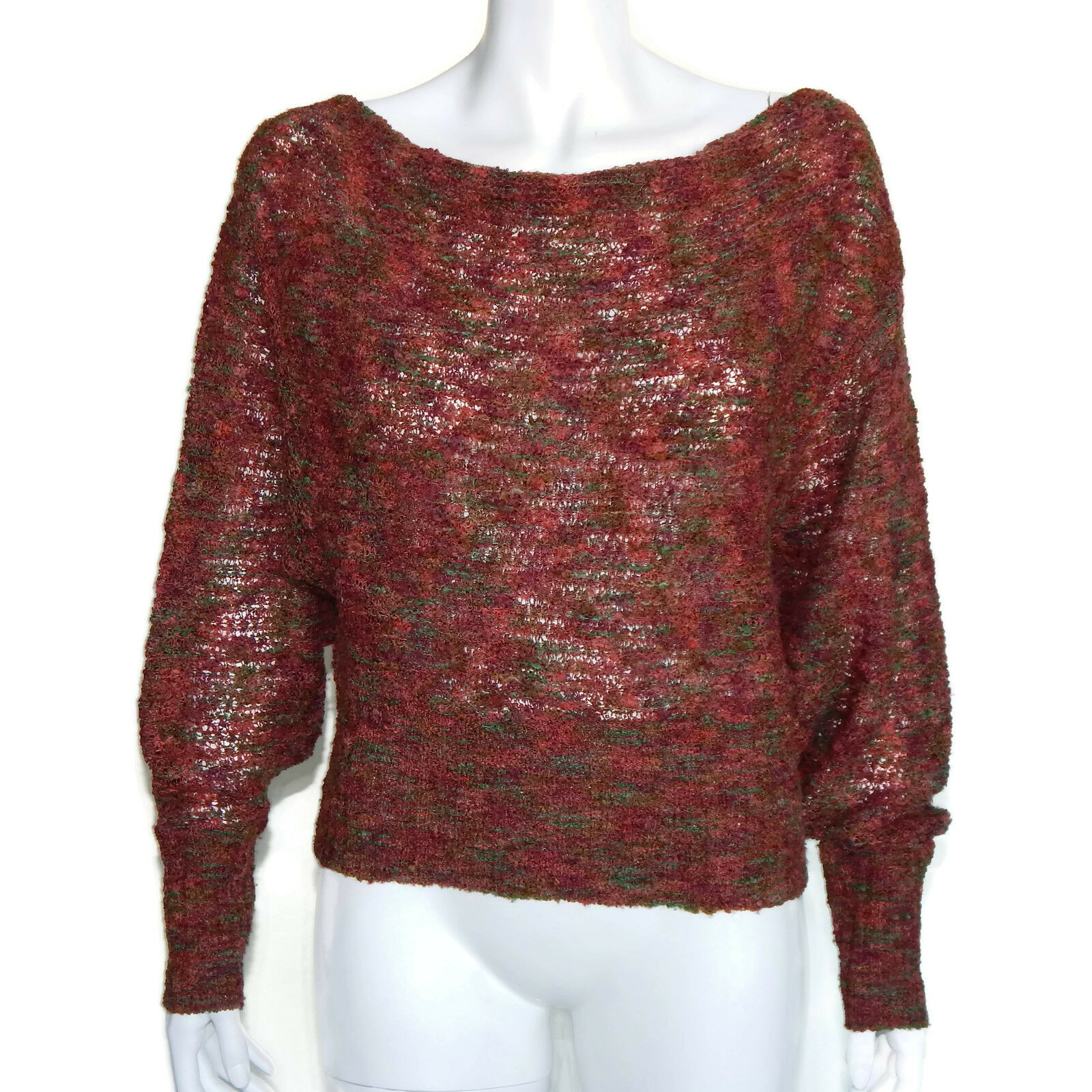 DIANE VON FURSTENBERG Multi-color Semi Sheer Wooly Wooly Wooly Textured Sweater M  4556 c6ecc9