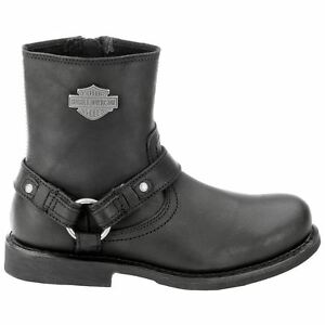 Boots Davidson Harness Black Biker Harley Scout Mens OqdY64