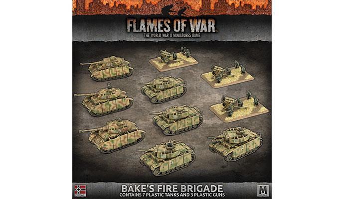 GEAB17 - BAKE'S Incendie Brigade - Flames Of War - Ww2 Guerre Mondiale -