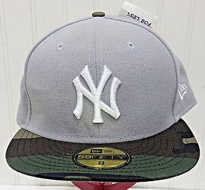 2a1473d0e65 NWT New Era 59Fifty New York YANKEES Hat Grey Camo Camouflage NY Cap ...