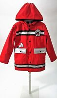 Wippette Toddlers Red Firefighter Raincoat Sz 2t, 3t