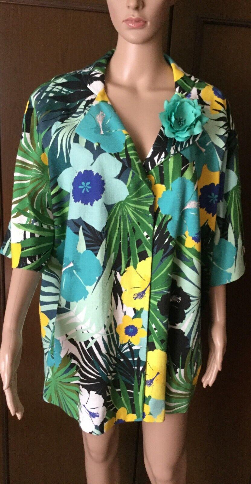 Jacke FINEZZA by MARINA RINALDI Woman, fancy summer Farbe, Größe 27 175   120Y