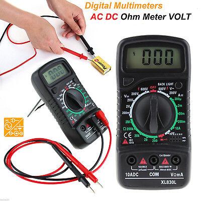 Digital XL-830L LCD Multimeter Voltmeter Ammeter Ohmmeter OHM VOLT Tester New
