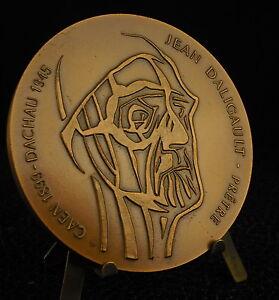 * Médaille Jean Daligault Prêtre Résistant Et Artiste Français 1985 Medal 铜牌 Nettoyage De La Cavité Buccale.