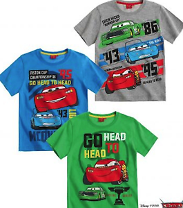 Ragazzi Disney McQueen Pixar Cars Maniche Corte t. shirt girocollo Top, 3,4,5,6,8yrs  </span>
