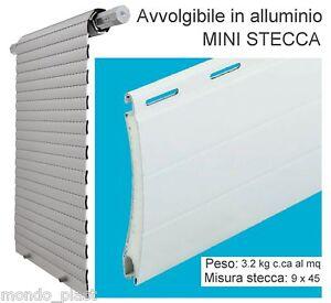 AVVOLGIBILE-TAPPARELLA-ALLUMINIO-COIBENTATO-MINI-STECCA-9-45-mm-vari-colori
