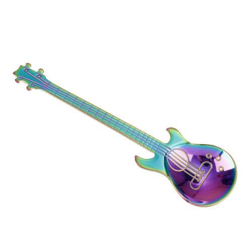 Guitar Pattern Musical Spoon Stainless Steel Coffee Ice Cream Teaspoon ng