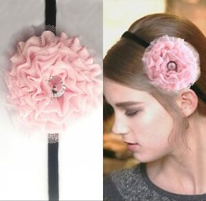 Fashion Jewelry Hair & Head Jewelry 2 Haarbänder Rosa Und Tüll Haarband Neu