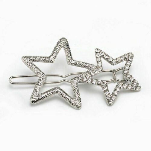 Women/'s Girls Pearl Letter Hair Clip Hairpin Slide Grips Barrette Gold Silver