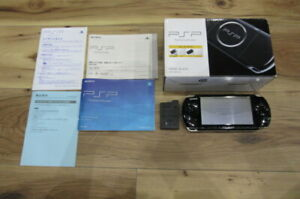 Sony-PSP-3000-Console-Piano-Black-w-box-Japan-K527