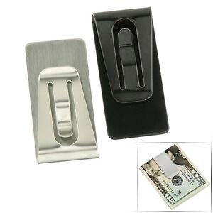 Cool-Trendy-Man-Tainless-Steel-Simple-Slim-Pocket-Cash-Money-Clip-Holder-JT12