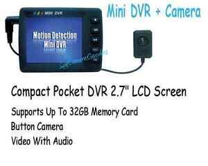 MINI SPY BUTTON CAMERA PORTABLE POCKET DVR Video/Audio Covert Easily Hidden