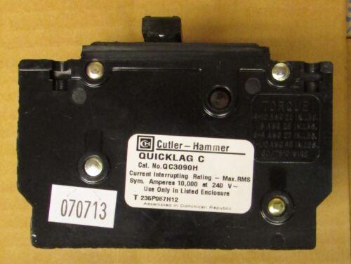 EATON CUTLER HAMMER Type QC QCH QUICKLAG Circuit Breaker 3 Pole 90 Amp QC3090H
