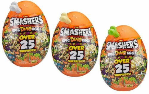 Smashers Epic Dino Egg Collectibles Series T-Rex,Brontosaurus,Triceratops