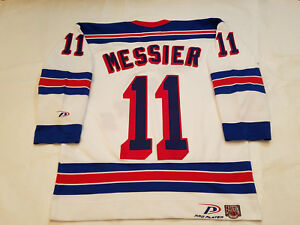 Mark-Messier-New-York-Rangers-Jersey-Pro-Player-white-nyr-STITCHED-mens-Large-L