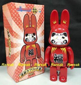 Medicom 2017 Be@rbrick Rabbit 400% Rabbrick Daruma Red Bearbrick R@bbrick 1pc